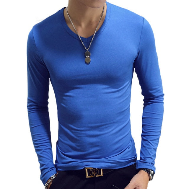 Men's Long Sleeve Running Shirts Athletic Workout T-Shirts