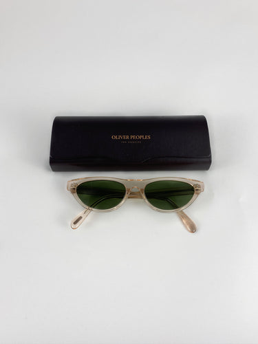 Oliver Peoples Cat Sunglasses see through + green glasses
