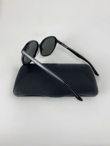 Balenciaga Sunglasses black silver white striped BB0005S
