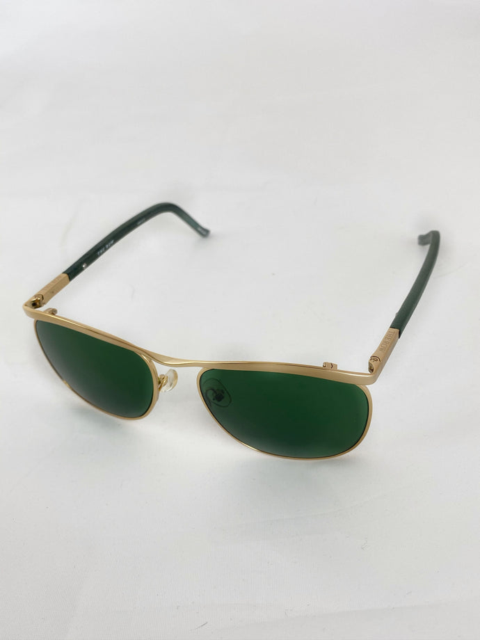 Linda Farrow Sunglasses The Row green/gold 5419-145