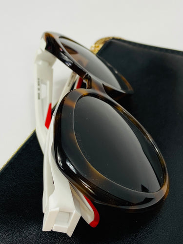 Balenciaga Sunglasses leo + red/white BB0024S 002