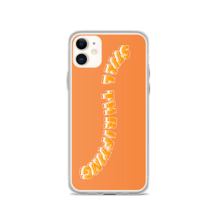 Still Thrifting iPhone Case orange waved Logo