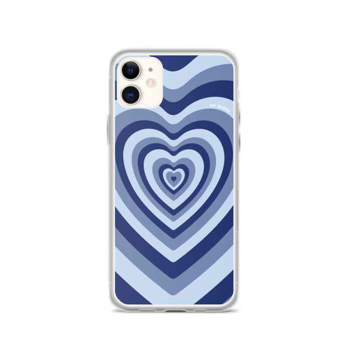Still Thrifting iPhone Case Blue Hearts