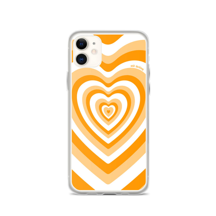 Still Thrifting iPhone Case Orange Hearts