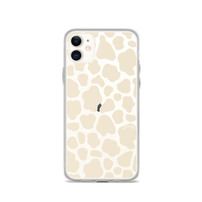 Still Thrifting iPhone Case Beige Cowprint