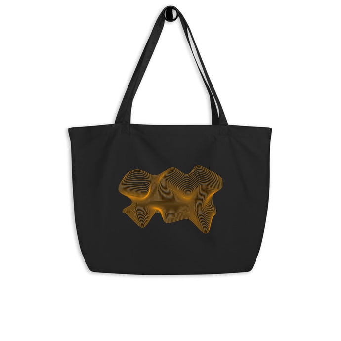 Still Thrifting Morphed Tote Bag black/orange big