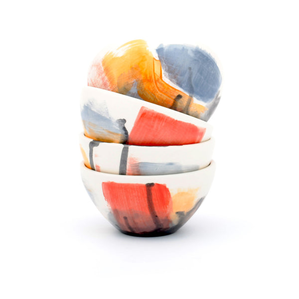 "bowls. ""multi abstract"" set"
