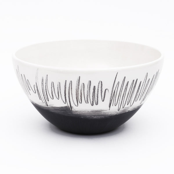 "bowl. tall ""black scribble"""