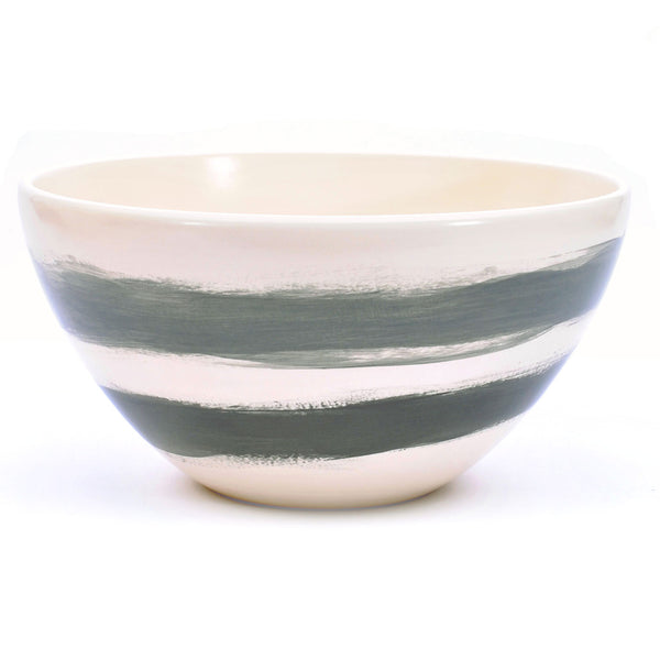 "bowl. tall ""grey bands"""