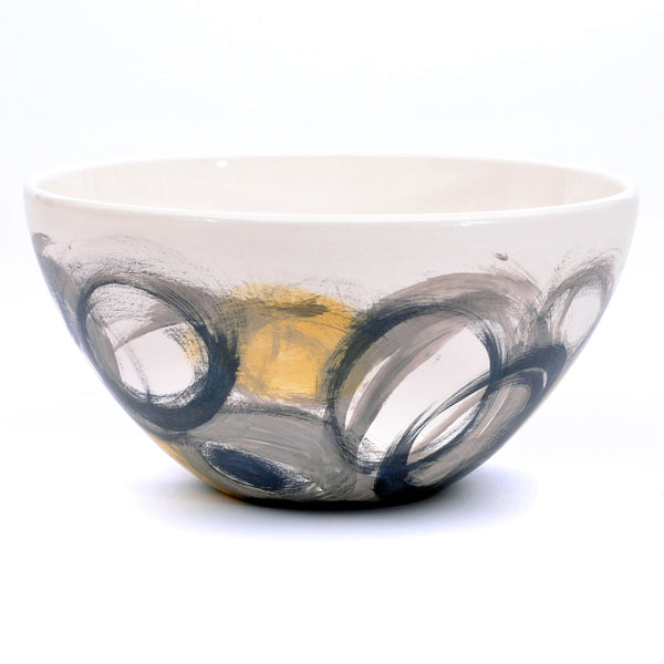 "bowl. tall ""layered circles"""