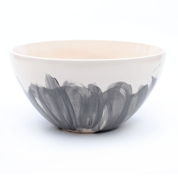 "bowl. tall ""grey flowers"""