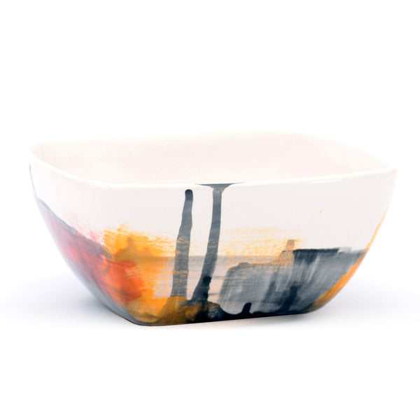 "bowl. square ""multi abstract"""