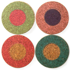 "round ""dots"" coasters - front"