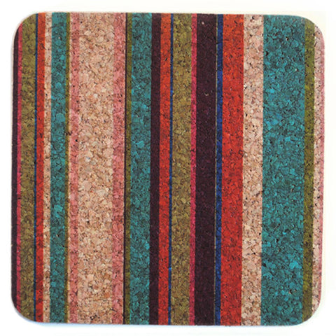 "square ""tropical stripe"" trivet"