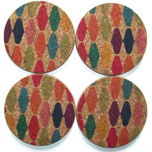"round ""bali mod"" coasters - front"