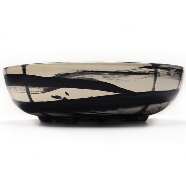 """black ribbon"" low bowl"