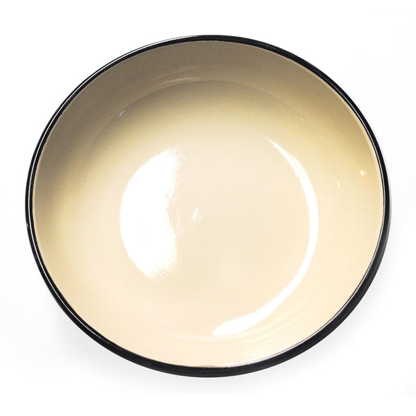 """black ribbon"" low bowl - inside"