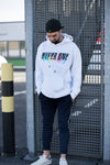 LOYALTY Oversized Hoodie white