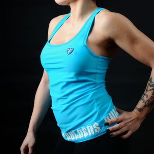 Tank Top Stretch Bleu