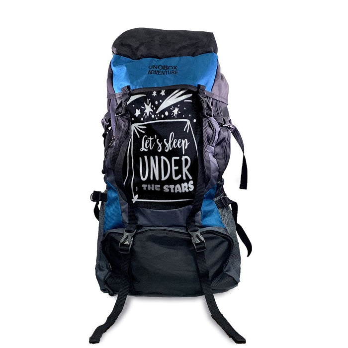 Let's Sleep Under The Stars Hiking Bag 50 LTR  (Blue) FREE RAIN COVER