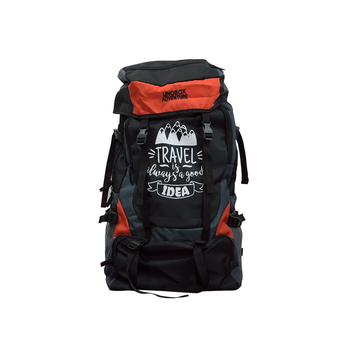 Travel Is Always a Good Idea Hiking Bag 50 LTR  (Orange) FREE RAIN COVER