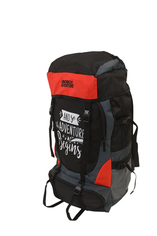 Adventure Begins Hiking Bag 50 LTR(Orange)- FREE RAIN COVER