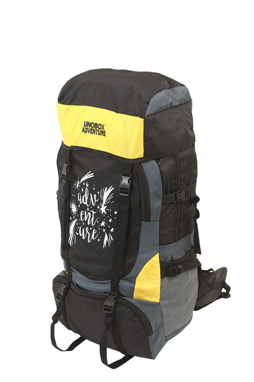 Adventure Hiking Bag 50 LTR (Yellow)-FREE RAIN COVER