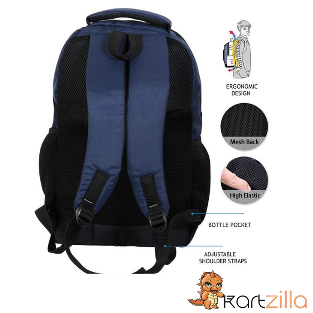 KARTZILLA  BLUE 32 LTRS CASUAL BACKPACK