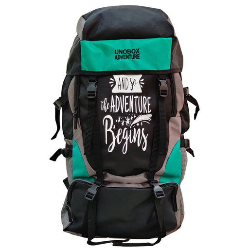 Adventure Begins Hiking Bag 50 LTR (Green)- FREE RAIN COVER
