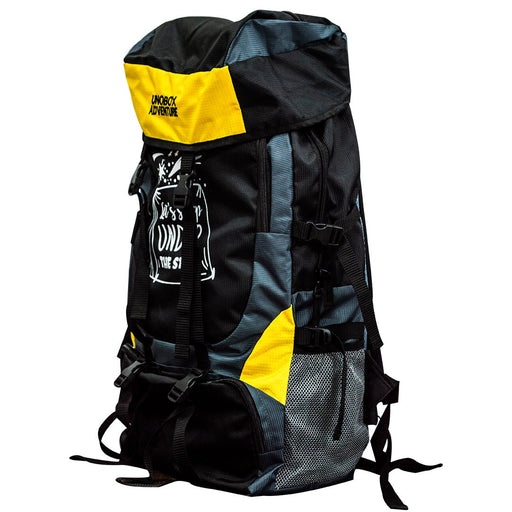 Let's Sleep Under The Stars Hiking Bag 50 LTR  (Yellow) FREE RAIN COVER