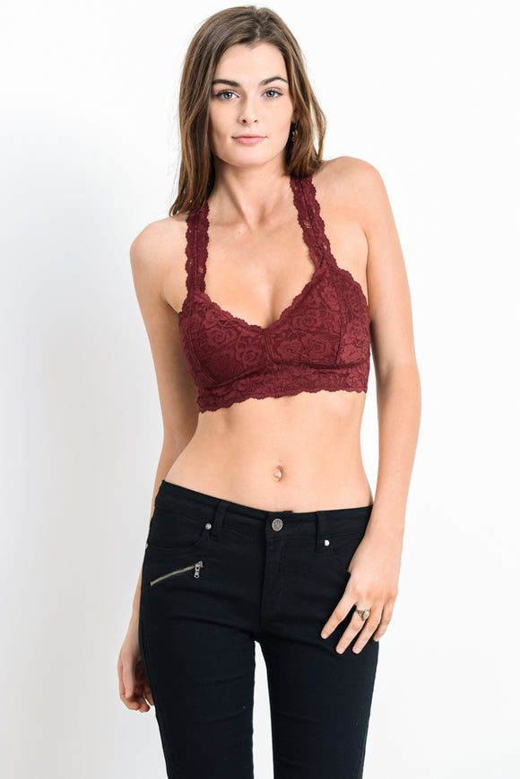 That One Bralette - Burgundy