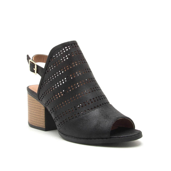 The Core Black Open Toe Bootie