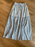 Light Blue Tie Waist Skirt