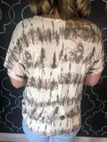 Taupe Tie Dye with French Terry Round Neck