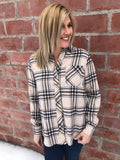 Beige and Blue Plaid Flannel