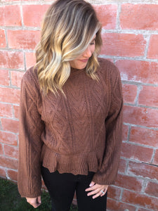 Too Cute For You Sweater - Hazelnut