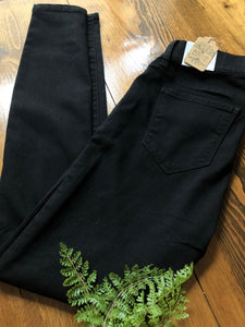 The Teacher Pants - Black Pull On - Size Small