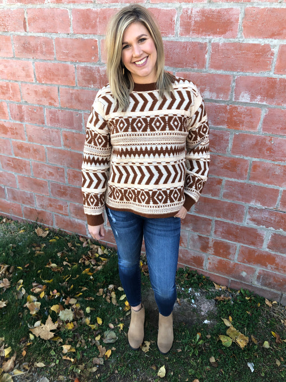 Camel Tribal Sweater