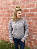 Charcoal Pom Pom Sweater