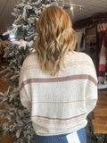 Terry Stripe Sweater - Clay
