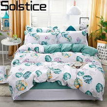 Load image into Gallery viewer, Solstice Cartoon Banana Leaf Style Comforter Bedding Sets Duvet Cover Bed Sheet Pillowcase Bed Linen Boy Girl Child Bedclothes
