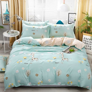 Solstice Cartoon Banana Leaf Style Comforter Bedding Sets Duvet Cover Bed Sheet Pillowcase Bed Linen Boy Girl Child Bedclothes