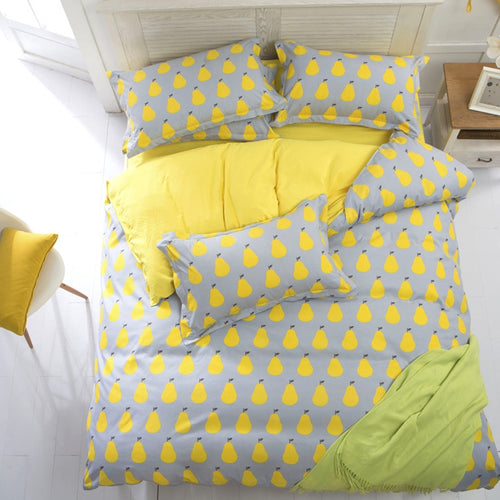 Banana Fruit Watermelon Bedding Sets Duvet Cover Set Bed Sheet Pillowcase Twin Full Queen King Plaids Home Textiles