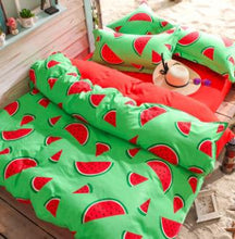 Load image into Gallery viewer, Banana Fruit Watermelon Bedding Sets Duvet Cover Set Bed Sheet Pillowcase Twin Full Queen King Plaids Home Textiles