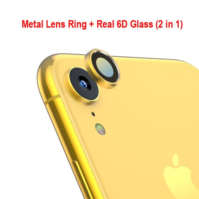 Back Camera 6D Lens Screen Protector for iPhone XR