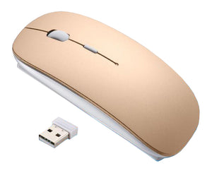 Rechargeable USB Wireless Silent Mute Gaming Mouse Ultra Thin Mice for Macbook Android Apple Notebook PC
