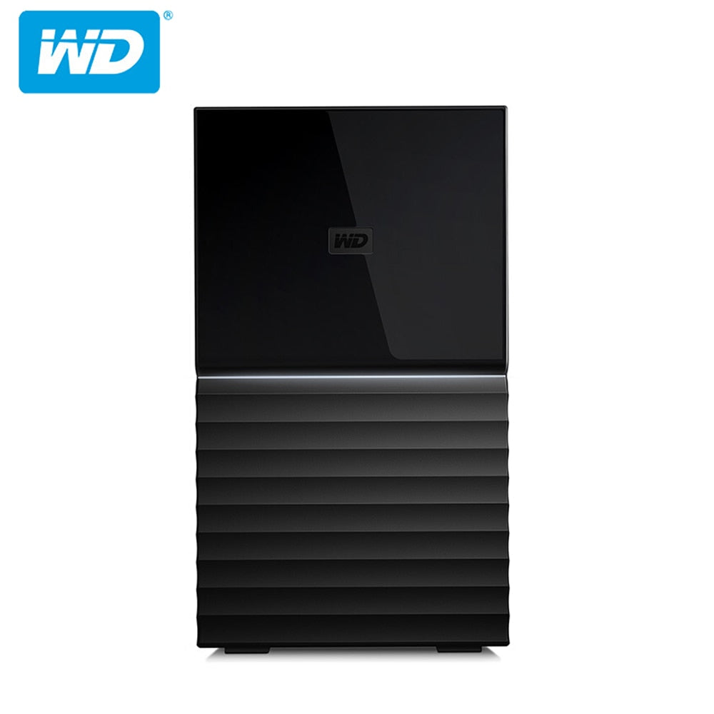 Western Digital My Book Duo 4T/6T/8T/12T/16T/20T Desktop External Hard Drive Original-USB 3.0 Hardware Encryption WDBFBE0040JBK