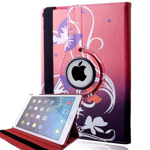 KK&LL For for iPad 2 3 4 - Multicolor Smart Tablet cover Rotating 360° with Auto Wake Up Sleep Flip Leather Stand Case