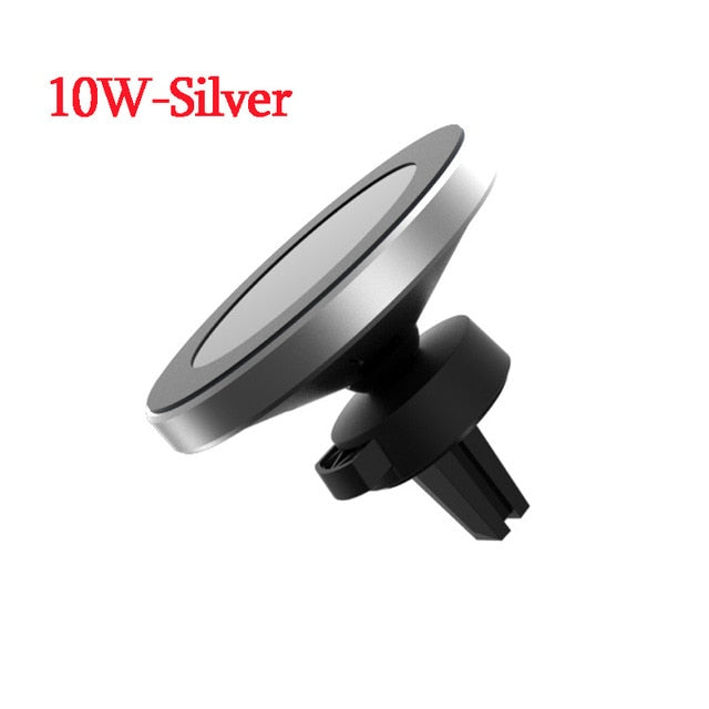 10W Qi Wireless Charger For iPhone X XR XS Max 8 Plus Samsung S9 S8 Note10 9 8 Wireless Charging Magnetic Car Phone Holder Stand