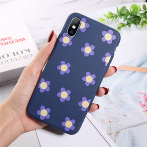 Moskado Flowers Phone Case For iPhone 11 Pro X XR XS Max 7 8 6 6s Plus 5 5s SE Chrysanthemum Floral Soft TPU Silicone Back Cover